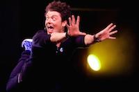 Spectacle du jeune humoriste Kev Adams � Gayant-Expo dans le cadre de sa tourn�e <i>voila voila !</i>.<br />PHOTO JOHAN BEN AZZOUZ / LA VOIX DU NORD