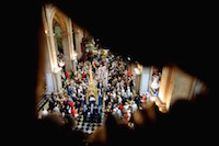 Messe de l'Assomption de la Vierge Marie à la Cathédrale Notre-Dame de Grâce, suivi de la procession de l'Icône de Notre-Dame de Grâce.<br />PHOTO JOHAN BEN AZZOUZ / LA VOIX DU NORD