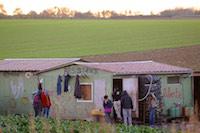 Le camp de Norrent-Fontes accueille toute l'ann�e une soixantaine de migrants. Les arriv�es et les d�parts sont r�guliers.<br />PHOTO JOHAN BEN AZZOUZ / LA VOIX DU NORD