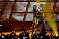 Concert de Johnny Hallyday à Gayant-Expo devant 6000 spectateurs.<br />PHOTO JOHAN BEN AZZOUZ / LA VOIX DU NORD
