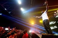 Concert de Sexion d'Assaut � Douai Gayant Expo, devant pr�s de 10 000 spectateurs.<br />PHOTO JOHAN BEN AZZOUZ / LA VOIX DU NORD