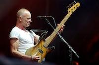 Concert de Sting, l'ex-chanteur et bassiste du groupe The Police, devant 30000 spectateurs.<br />PHOTO JOHAN BEN AZZOUZ / LA VOIX DU NORD